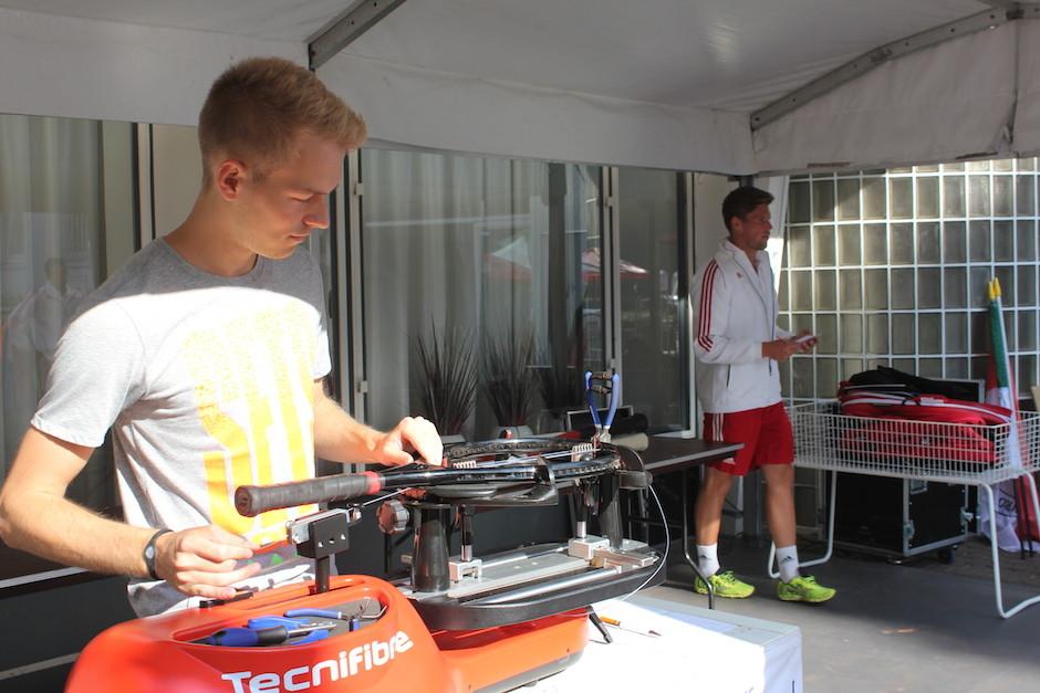 Erstklassiger Schläger Bespannservice für die Tennis Bundesliga