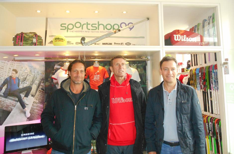 Lassen sich häufig bei uns beraten - Davis Cup Teamchef Carsten Arriens - Davis Cup Sieger Patrik Kühnen - ExProfi Alexander Mronz