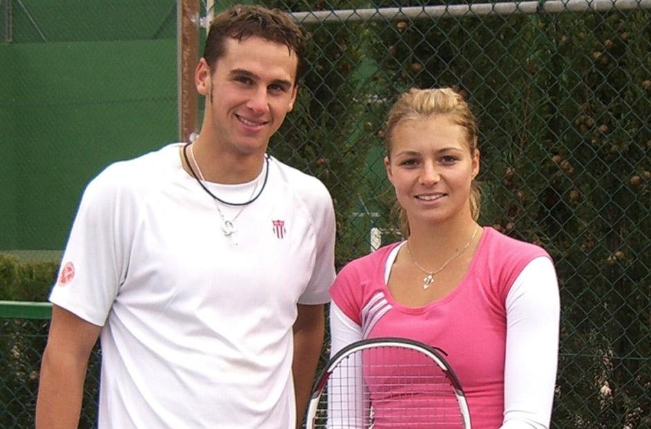 On Tour im HS99 Outfit - Damen WTA Trainer Philipp Born mit Profispielerin Maria Kirilenko